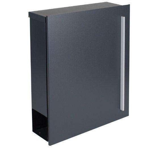 Design-Briefkasten MOCAVI Box 110 anthrazitgrau (RAL 7016) mit Zeitungsfach Wandbriefkasten: Amazon.de: Baumarkt