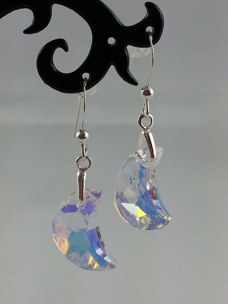 Swarovski moon earrings, from set