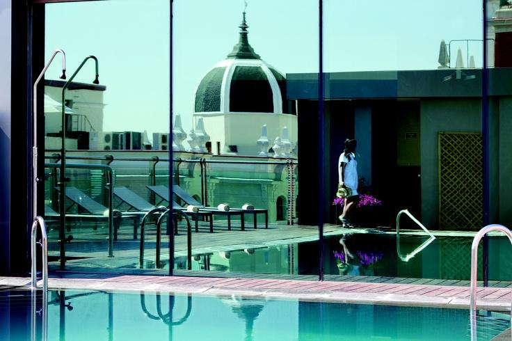 Piscina en la azote. Hotel Santo Domingo. http://hotelsantodomingo.es/