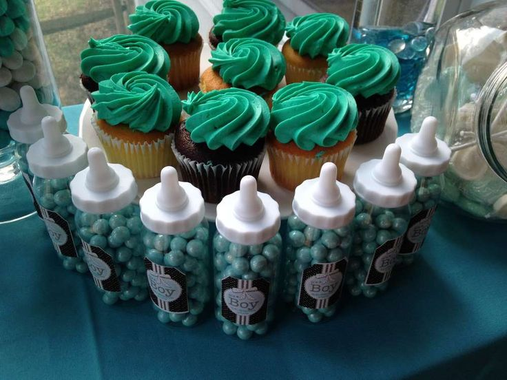 Turquoise U0026 Brown Baby Shower Baby Shower Party Ideas