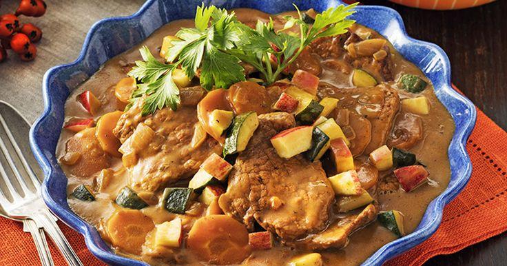 Recept gryta med fläskytterfilé och cidersås