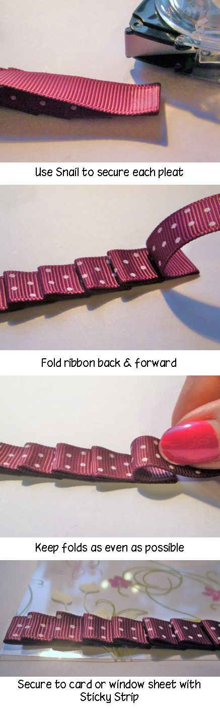 How to -pleating ribbon. Great for scrapbooks or adding flair to picture frames.