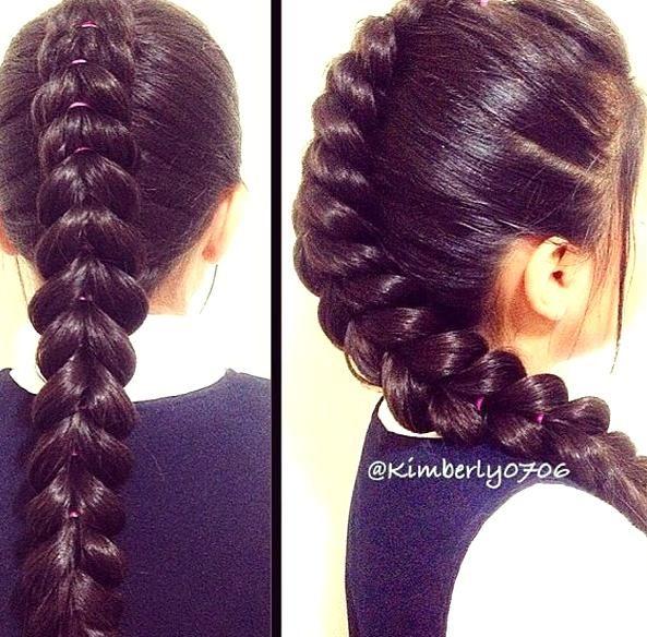14 Amazing Pull Through Braid Hairstyles For 2014 Pretty Designs In 2020 Braided Hairstyles Hair Braids For Long Hair