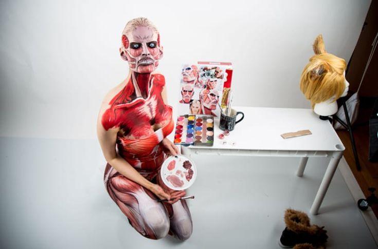 The Amazing bodypainting of Kay Pike, Calgary, Canada