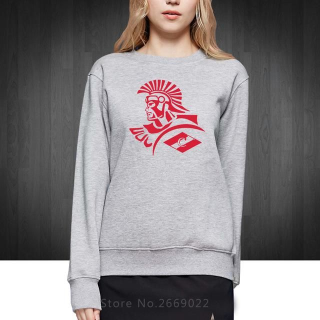 New FC Spartak Moscow Russian Logo Printed Women Sweatshirts Cotton Fashion Casual Loose Clothing Girl Woman Hoodies Pullover