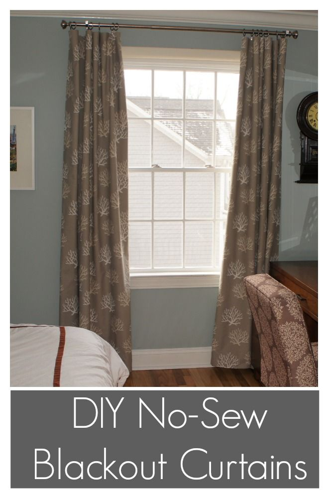 DIY No Sew Blackout Curtains, incredibly easy.  All you need is fabric and an iron.