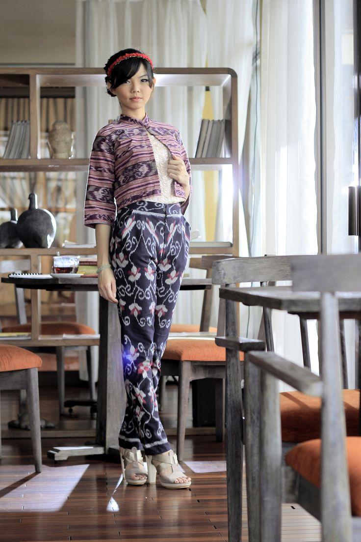 Ikat Pants   Dewi Gandawati Hitam Pant   DhieVine   Redefine You