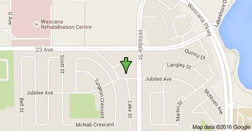 Map of 1510 Jubilee Ave, Regina, SK S4S 5Z6