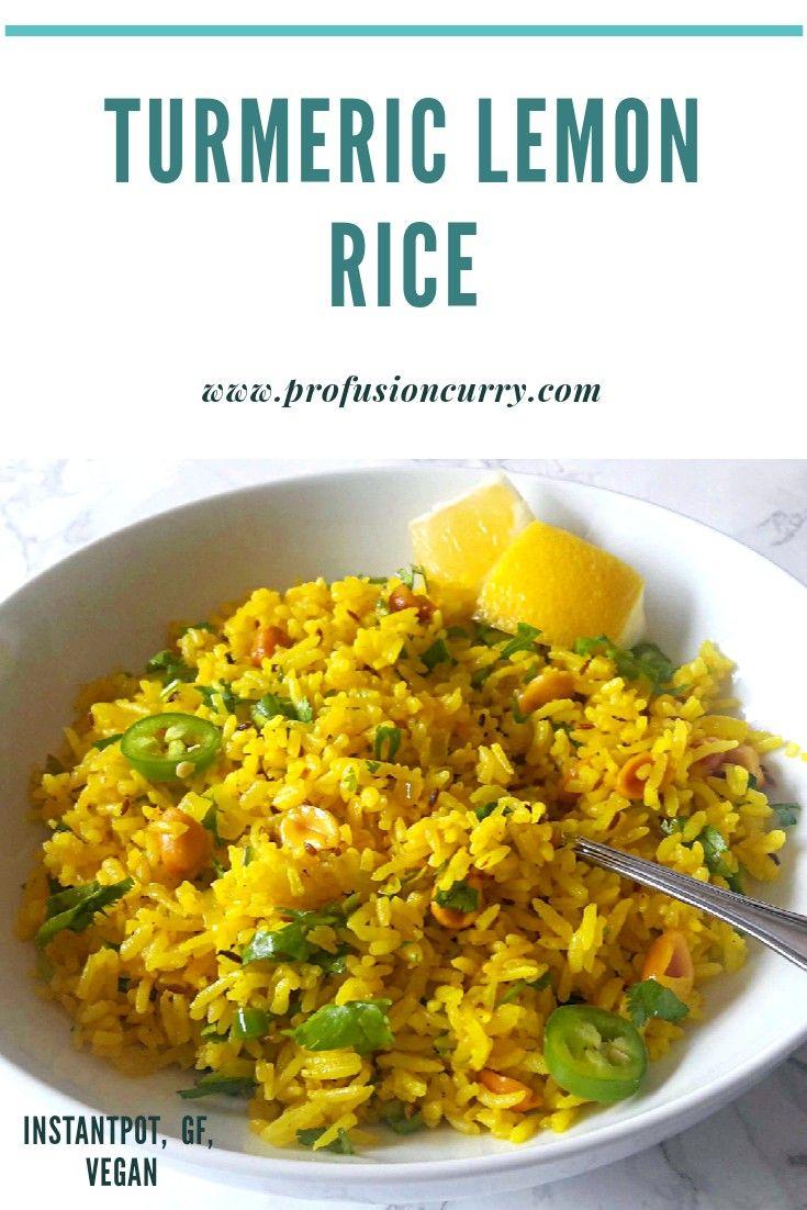 Simple Turmeric Rice Lemon Herb Rice Instantpot Lemon