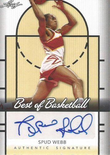 Spud Webb Auto Autograph 2013 Leaf Best Of Basketball