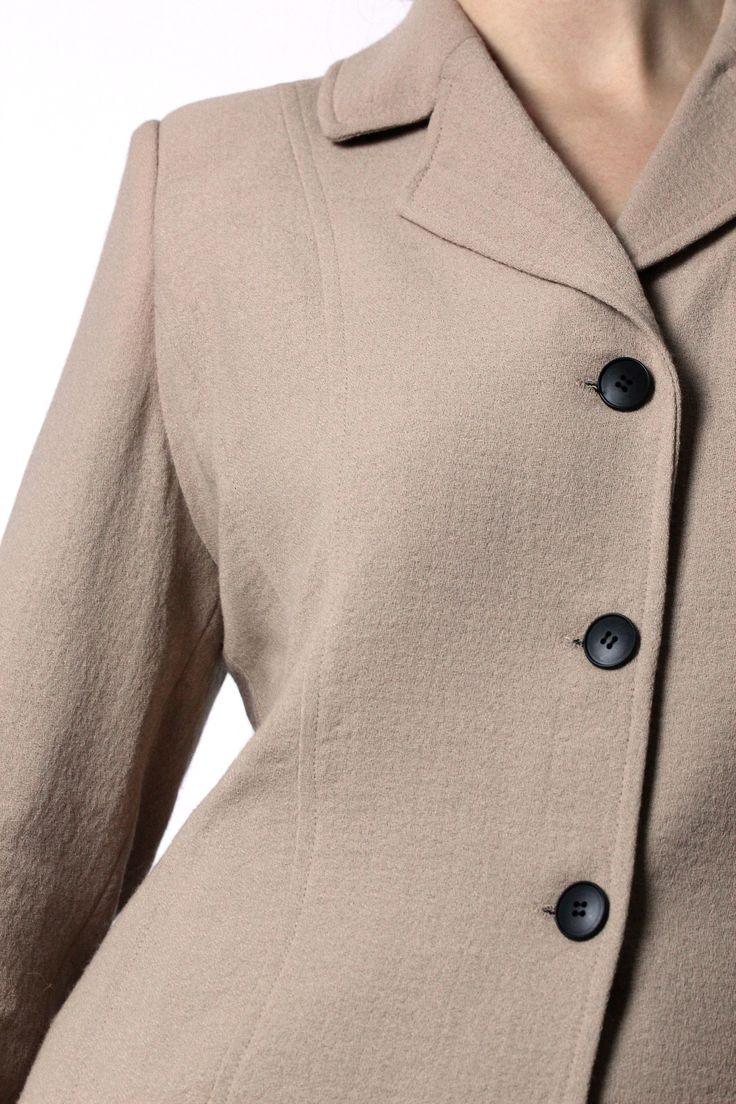Tan blazer, black buttons http://honeygold.eu/product/tan-blazer/