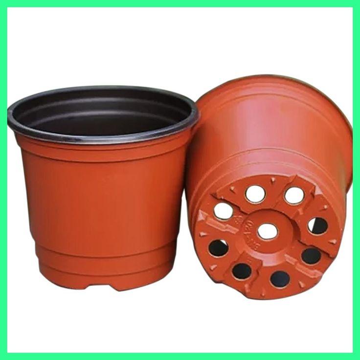 Behokic 200Pcs Plastic Flower Pots macetas Garden Plant Nursery Pot Container Flowerpot for Planters Vegetables Growing Herbs