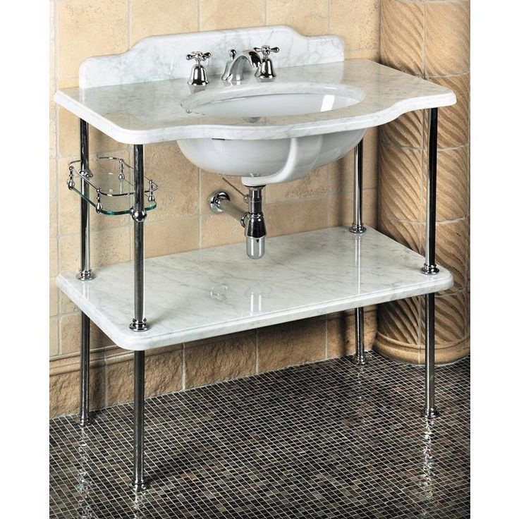 stand bathroom on best sink images sinks pinterest room console brass anka powder with polished shelf