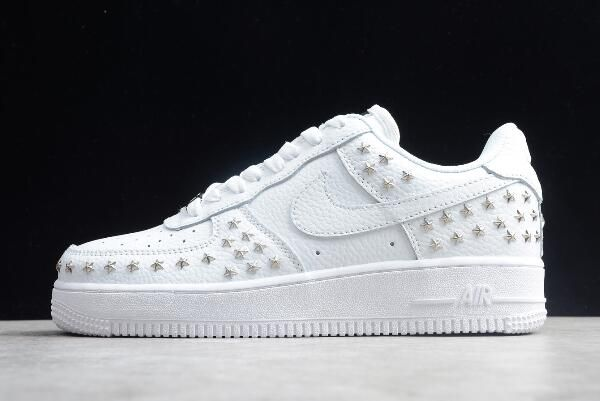 """Womens Nike Air Force 1 Low """"Star-Studded"""" White AR0639-100 ..."""
