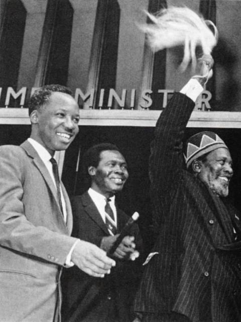 African Greats Julius Nyerere (Tanzania), Milton Obote (Uganda), & Jomo Kenyatta (Kenya) in 1964.