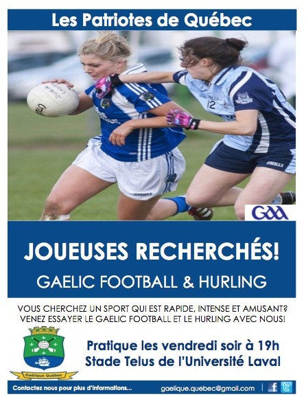 Les Patriotes de Quebec  GAA - Gaelic Football and Hurling
