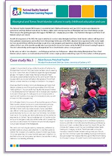 Case study No.1: University of Canberra, Australian Capital Territory from the series 'Aboriginal and Torres Strait Islander cultures in early childhood education and care'. An interview with Aboriginal educator Adam Duncan is a preschool teacher at the centre, working with three- to six-year-olds in an environment where Aboriginal and Torres Strait Islander cultures have become deeply embedded in the program.