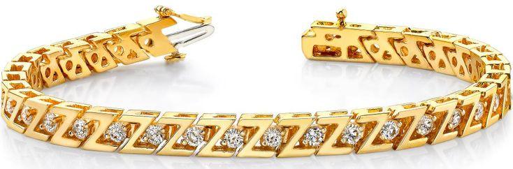 Diamantarmband mit 1.00 Karat Diamanten aus 585er Gelbgold bei www.diamantring.be für nur 1995.00 Euro Versandkostenfrei bestellen.