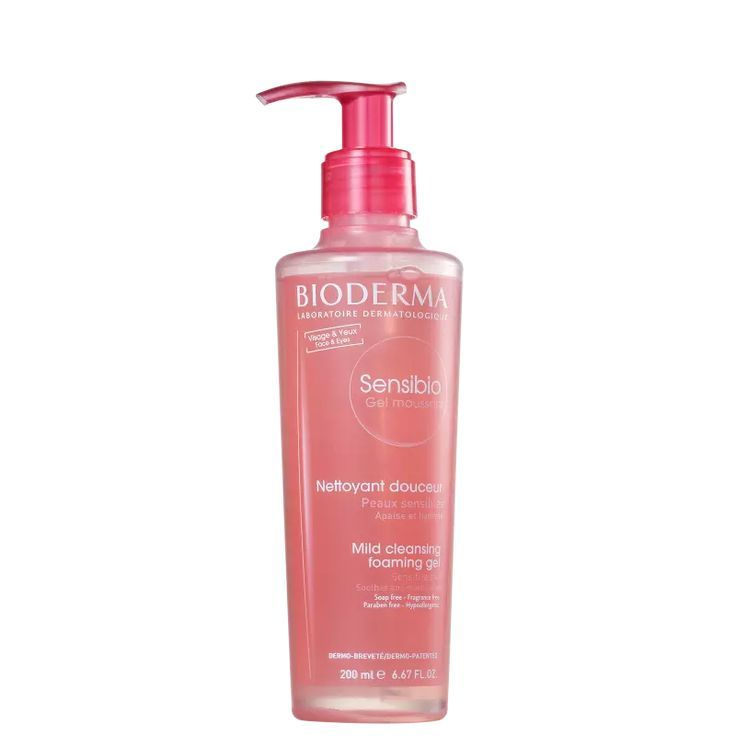 Bioderma Sensibio Gel Mousant Gel De Limpeza Facial 200ml
