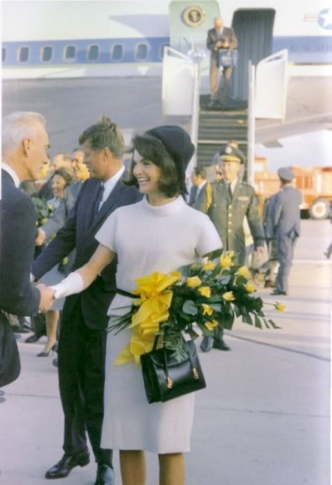 President Kennedy and First Lady Jacqueline Kennedy flew from Andrews Air Force Base to San Antonio, then visited NASA in Houston and on to Ft. Worth for a Chamber of Commerce breakfast the next day. It was a short flight to Dallas and the motorcade through Dealey Plaza - the next day would be a motorcade through Dallas.