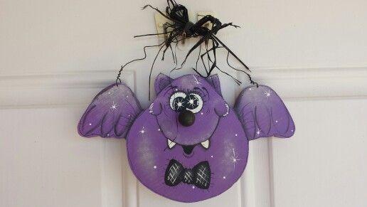 Cute halloween woodcraft bat