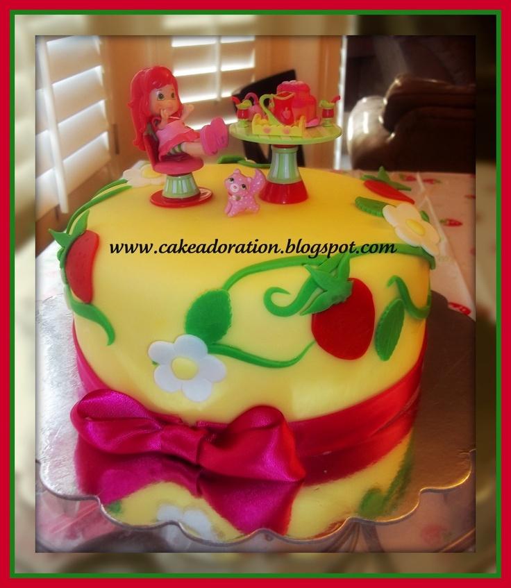 ... Strawberry buttercream frosting, Strawberry shortcake birthday cake