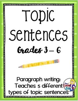 how to find topic sentence
