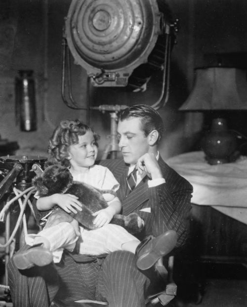 *SHIRLEY TEMPLE & GARY COOPER ~ behind the scenes of Now and Forever, 1934.