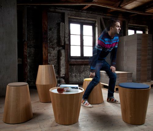 Joint Perspective make these multi purpose stools.