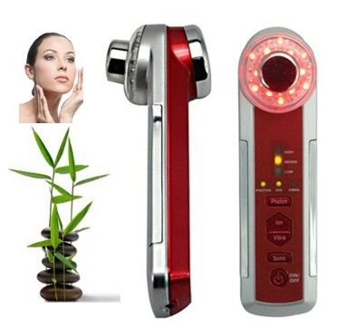 4 in 1 Photon+Ultrasonic+Ionic+Vibrate device 3MHz X107