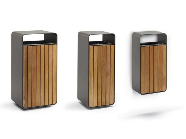 Урна для мусора BOX WOOD by Metalco дизайн Staubach   Kuckertz