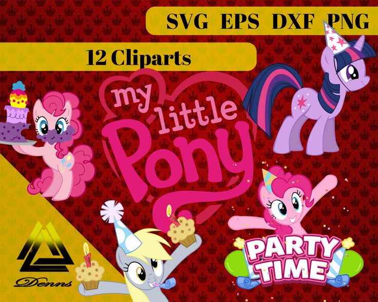 My Little Pony Birthday Clipart – 12 (Svg, Eps, Png, Dxf Files) – 300 PPI – Vectorial Images – My Little Pony svg – T-Shirt Design by DennsShop on Etsy https://www.etsy.com/listing/554636941/my-little-pony-birthday-clipart-12-svg
