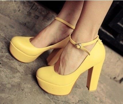 Love! Love! Love these Yellow High Heels !!!