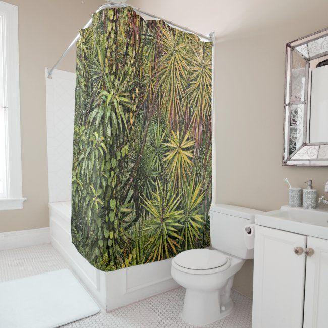 Shower Curtain Rainforest Shower Curtain Zazzle Com In 2020 Rainforest Shower Watercolor Shower Curtain Shower Curtain