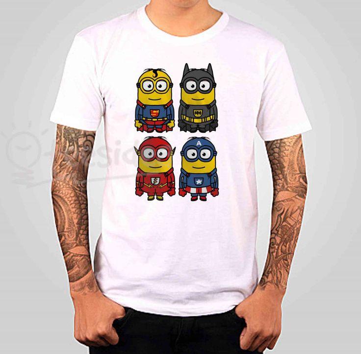 Superman minions Unisex Adult T Shirt $12.50–$18.50 SIZE : S,M,L,XL,XXL,XXL
