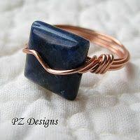 diy wire jewelry tutorials   DIY: Simple Wire-Wrapped Ring Tutorials   DIY Jewelry Ideas