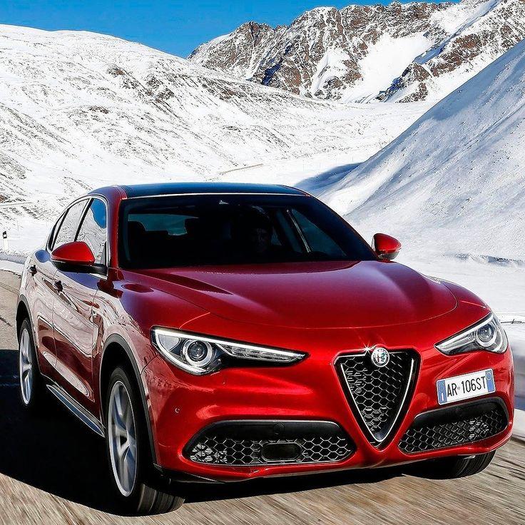 Alfa Romeo Stelvio 2018 Primeiro SUV da Alfa Romeo o modelo tem 4.686 mm de comprimento 1.677 mm altura e 1.903 mm de largura e é construído na mesma plataforma do Giulia. Inclusive terá o mesmo motor na versão esportiva Quadrifoglio. No caso trata-se de um 2.9 V6 biturbo de origem Ferrari com 510 cavalos e 600 Nm de torque. A transmissão é automática ZF de oito velocidades. Segundo a Alfa faz de 0 a 100 km/h em 39 segundos com velocidade máxima de máxima de 285 km/h. Também há opção do…