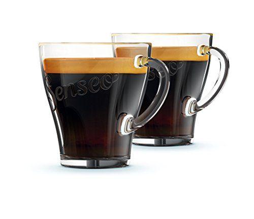 Philips CA6511/00 Senseo Set de 4 Tasses Verre 7 x 10 x 8,5 cm: 4 Tasses à café en verre gravées SENSEO Marque SENSEO pour toute…