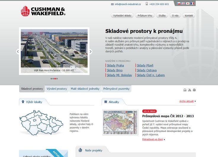 Rozsáhlá prezentace Cushman & Wakefield s mapovou aplikací a interaktivnímy grafy