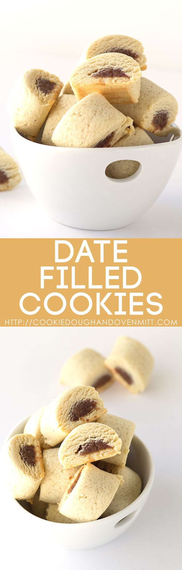 If you want a simple cookie, these date filled cookies are a must try! They remind me of a fig newton, but with a better texture. Plus, they're pretty!