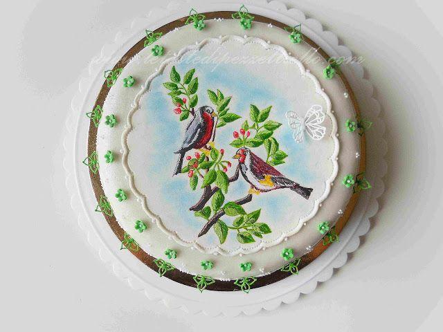 Le Torte di Antonella Cacossa e non solo...: (PDZ-SAP) Torta colorata con uccellini