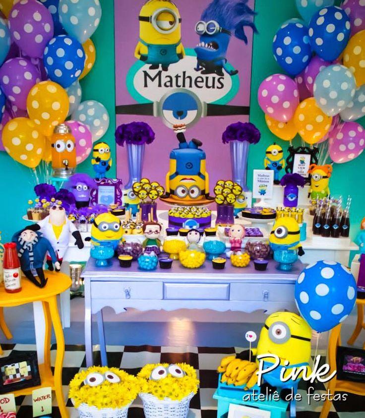 Olha que amor esta Festa Minions!!Fofuras e mais fofuras por aqui.Imagens Pink…