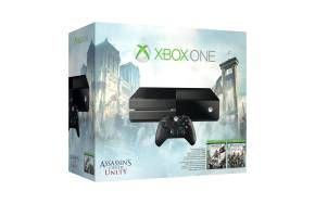 Xbox One Assassin's Creed Unity Bundle Xbox One console and Kinect sensor* Assassin's Creed Unity - download Assassin's Creed IV: Black Flag - download Wireless controller and headset  Exclusive offer: Includes Project Spark**