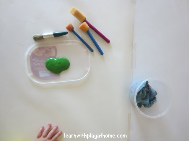Learn with Play at home: Single Colour Paint Exploration. Process Art