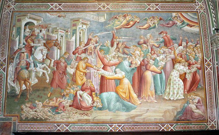 Cenni di francesco, cappella della croce di giorno, 1410, strage degli innocenti 01.JPG