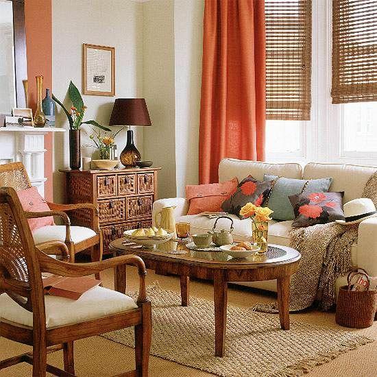 New Home Interior Design  Indsamling af Country Living Room StylesBest 25  Burnt orange curtains ideas on Pinterest   Burnt orange  . Orange Living Room Furniture. Home Design Ideas