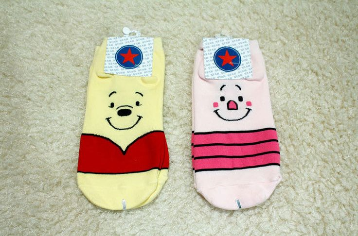 New unisex Disney winnie the Pooh & Piglet Characters Cotton socks #Unbranded #Casual