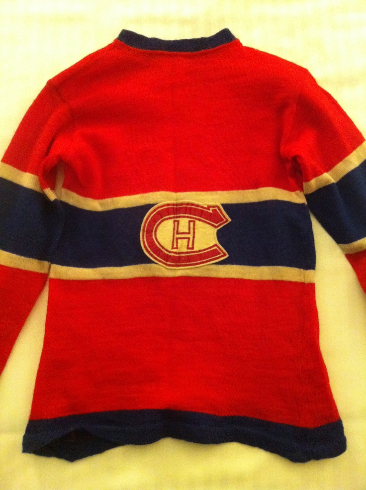 Vintage youth Montreal Canadiens hockey jersey, ca 1950s.
