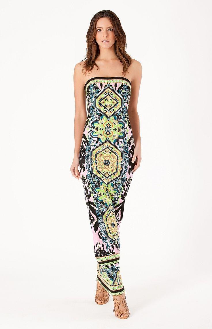 Hale bob zig zag stripe maxi dress