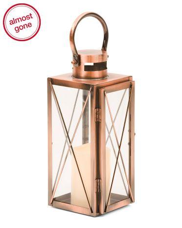 12in+Copper+LED+Lantern